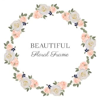 Цветочная рамка с букетом роз