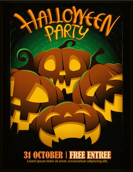 Шаблон плаката вечеринки в честь хэллоуина