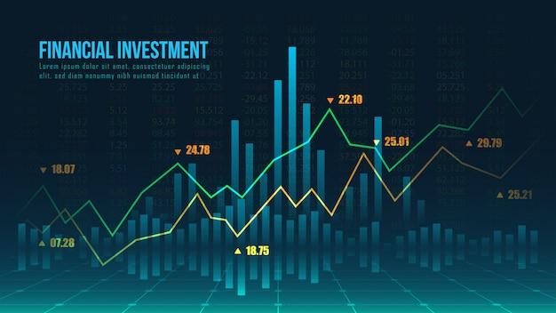 株式市場または外国為替取引グラフのコンセプト