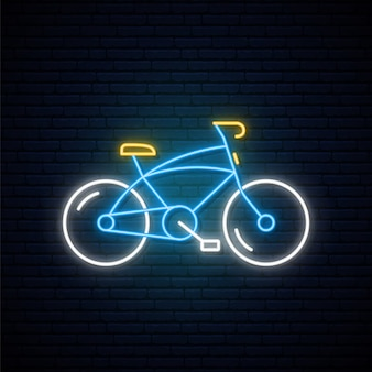 ネオン自転車サイン。