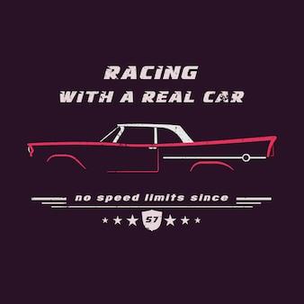 ヴィンテージ古典的なアメリカの車。