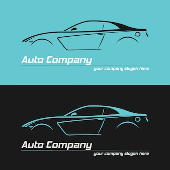 スポーツカーのデザインバナー。