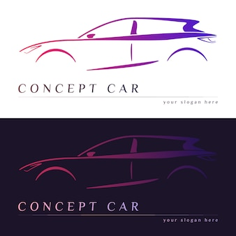 Силуэт концепции автомобиля