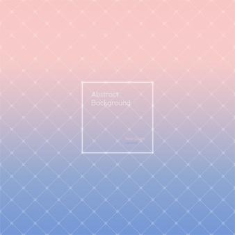 グラデーションローズクォーツとセレニティ多角形のパターン。