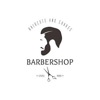 ビンテージの理髪店の紋章。