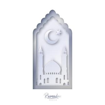 イスラム装飾デザインのテンプレート。ラマダンカレン。