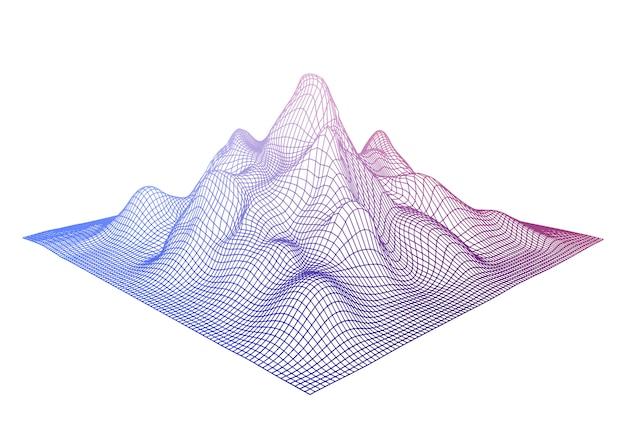 抽象的なワイヤフレームの背景色。