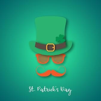 帽子とメガネをかけて生姜口ひげとアイルランド人。