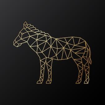 Векторная геометрическая эмблема зебры.