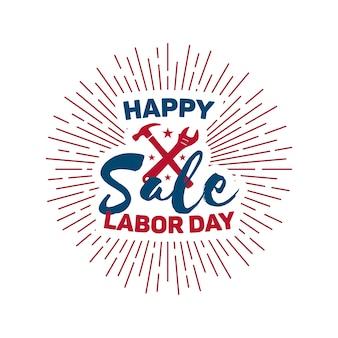 幸せな労働者の日セールデザイン。