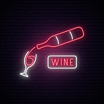 ネオンワインのサイン。