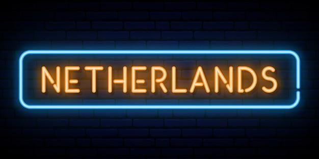 Нидерланды неоновая вывеска.