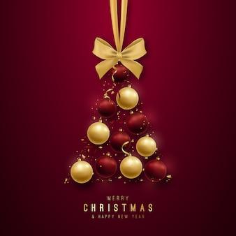 メリークリスマスの挨拶デザイン。