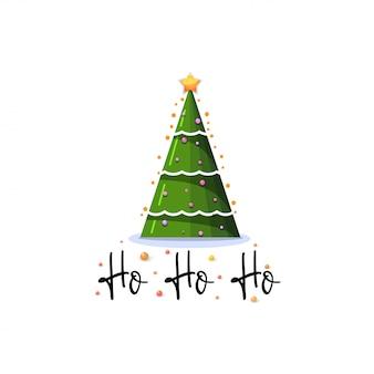 Хо-хо-хо. праздничный баннер рождество