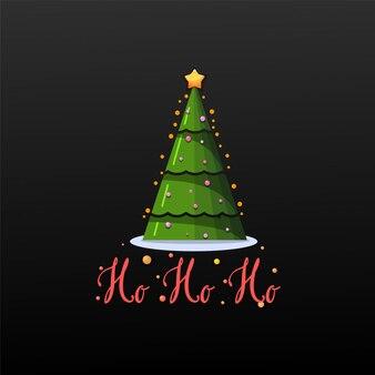Хо-хо-хо. праздничный баннер рождественская елка