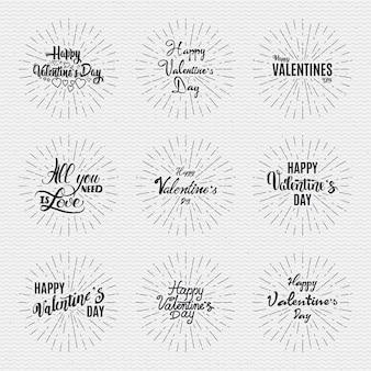 幸せなバレンタインデー、白い背景の上の動きの心