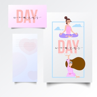 Женский день открытки