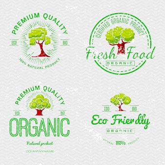 Набор наклеек органическая натуральная экология