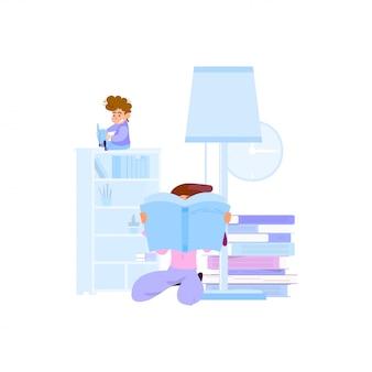 Получение знаний молодых людей из книг