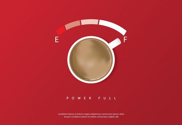 コーヒーポスター広告フレアベクトルイラスト