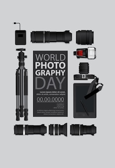 Шаблон всемирного дня фотографии