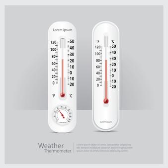 天気の温度計は、ベクトル図を分離