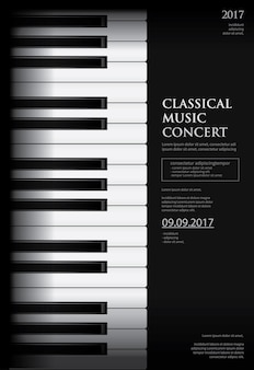 音楽グランドピアノポスターの背景テンプレート