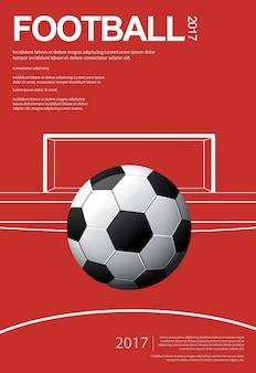サッカーフットボールのポスターベスターのイラスト
