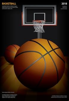 バスケットボールのポスター広告のベクトル図