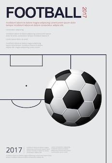 サッカーサッカーポスターベストイラストレーション