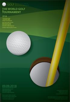 ポスターゴルフ選手権ベクトルイラスト
