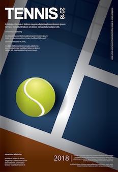 テニス選手権ポスターベクトルイラスト