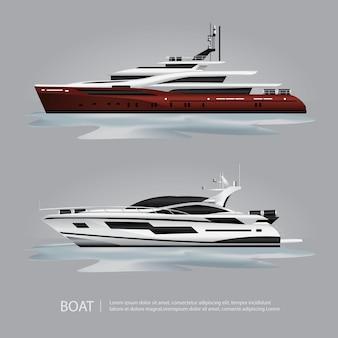 移動する観光船ヨット
