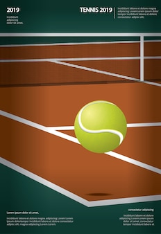 Теннис чемпионат плакат векторная иллюстрация