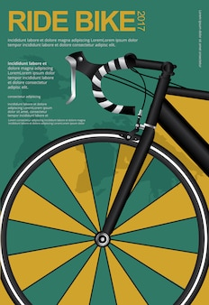 Велоспорт дизайн плаката шаблон векторные иллюстрации