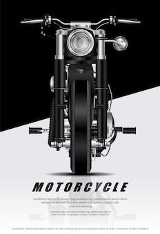 Плакат чоппер мотоцикл изолированный