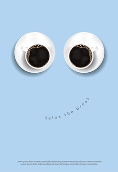 コーヒーポスター広告フレアイラスト