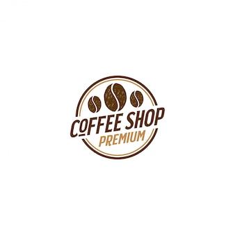 Кофейный логотип для кафе ресто и этикетка продукта, еда напиток