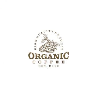 コーヒー製品のビンテージロゴ