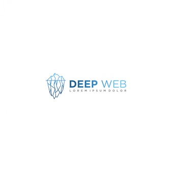 Глубокий веб-логотип для современных бизнес-технологий