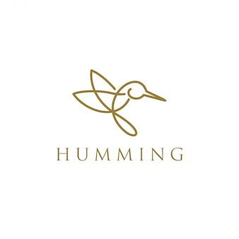 ハミング鳥動物ロゴ