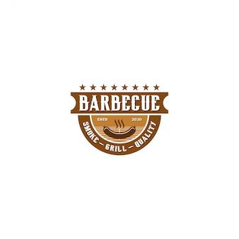 バーベキューバーベキューグリルレストランフードドリンクロゴ、バーベキュー火肉ソーセージヘラ要素