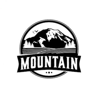 Открытый скалистый горный логотип природы