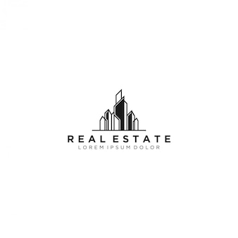 Логотип недвижимости, современный и простой