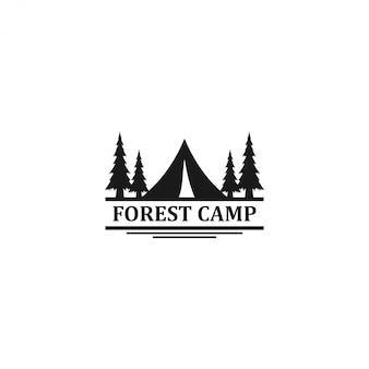Открытый логотип горы и приключений