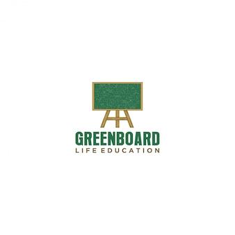 教育学校の黒板ロゴ