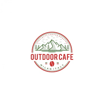Уличное кафе логотип, кофе италия