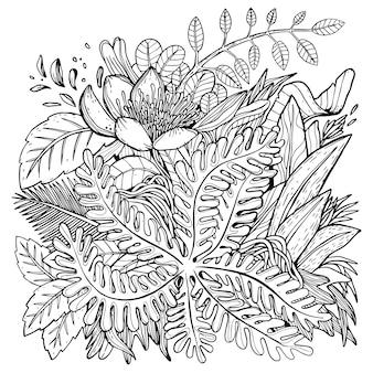 手描きの葉