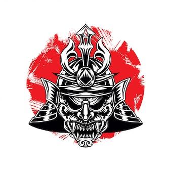 Воинственный шлем воина-самурая