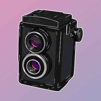 ビンテージツインレンズ一眼レフカメラ
